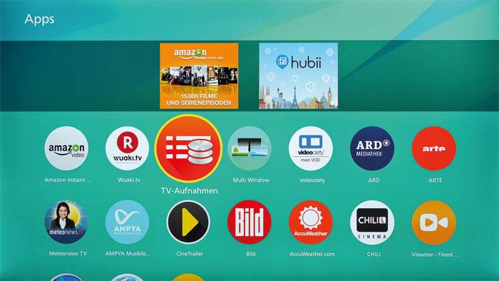 Einfach übersichtlich: Das Firefox-Betriebssystem ist optisch ansprechend gestaltet und bietet ein üppiges Smart-TV-Angebot mit vielen Apps.
