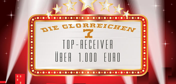 Die glorreichen 7: Top-Receiver über 1.000 Euro