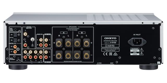 Die Anschlüsse des Onkyo A-9150