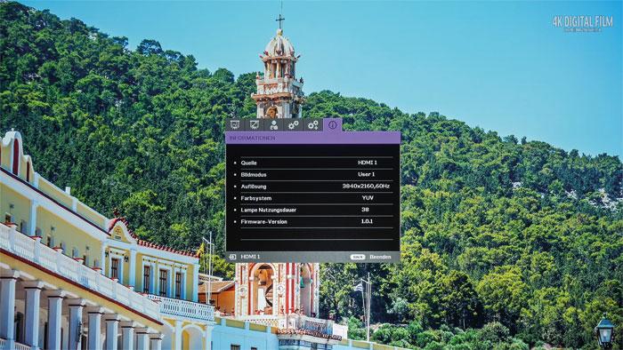 Scharfe Details: UHD-Clips mit 30 oder 60 Hertz projiziert die XPR-Shifting-Technologie des BenQ W11000 nicht nur sehr scharf, sondern auch ruckelfrei.