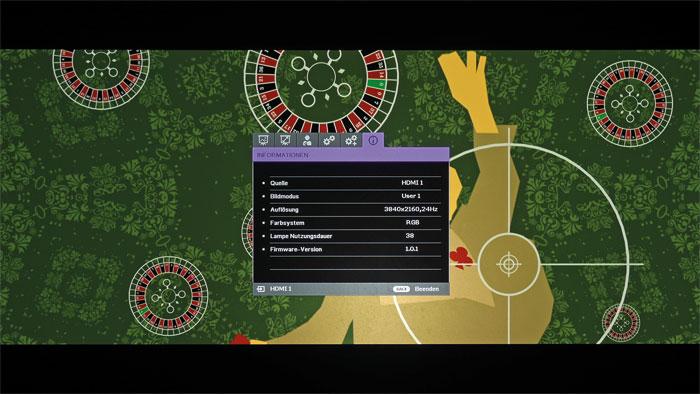 """Stolperstelle: Die Rouletteräder aus dem Vorspann von """"Casino Royale"""" drehen sich nicht gleichmäßig. Auch PAL-Inhalte ruckeln aufgrund der 60-Hertz-Darstellung."""