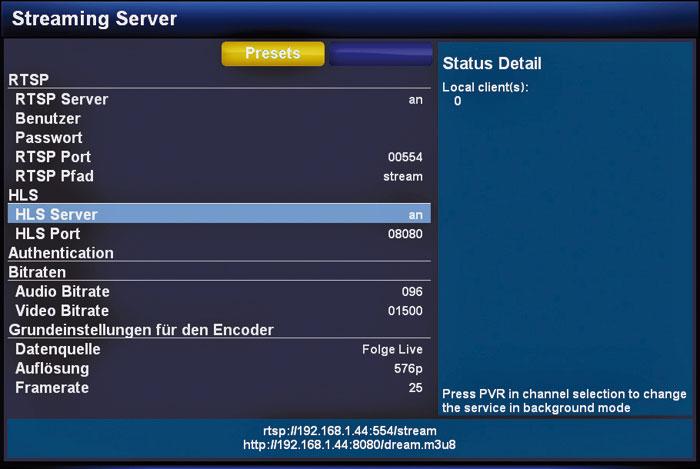 Die Dreambox dient auch als Streaming-Server – etwas Know-how ist bei der Einrichtung allerdings gefragt.