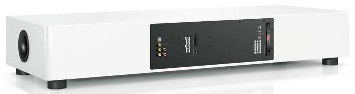 Rückseite: Mit Toslink-, Koax- und Stereo-Cincheingang sowie Sub-Pre-out und Signal-Out bietet das nuPro AS-450 ausschließlich Tonanschlüsse; HDMI- sowie analoge Bildschnittstellen fehlen. Ein Highlight ist das USB-DAC.