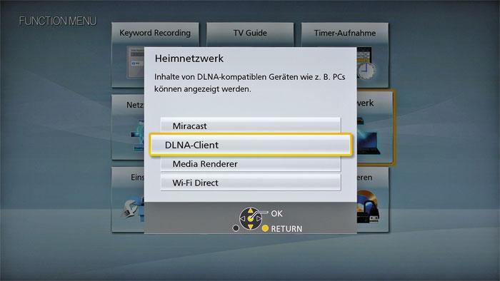 Flexibler Mediaplayer: Eigene Bild-, Musik- und Videodateien lassen sich sowohl über Disc, USB und SD-Karte  als auch das Netzwerk zuspielen, etwa als DLNA-Stream.