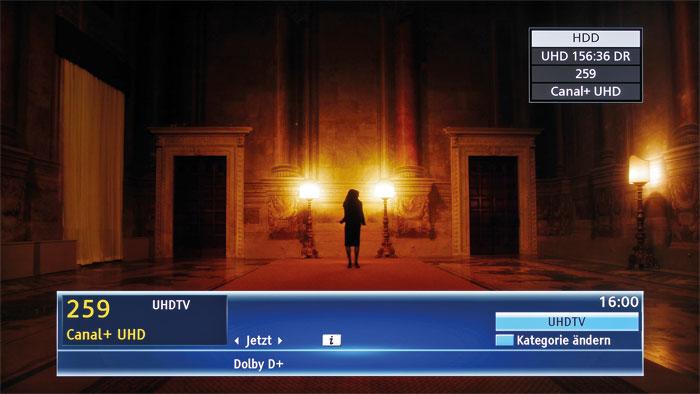 Direct Recording: Panasonics DMR-UBS90 nimmt frei empfangbare sowie verschlüsselte TV-Sender ohne Qualitätsverlust auf (DR) – von SDTV über HD bis hin zu UHD.