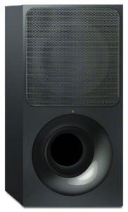 Der 19 × 38,2 × 38,6 Zentimeter (B/H/T) große Sub erweitert den Sound um ein druckvolles, wenn auch nicht besonders tiefes Bassfundament.