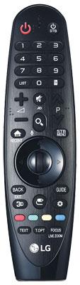 Magic Remote: Als einziger Hersteller im Testfeld stattet LG seine Fernbedienung mit einem Gyrosensor aus. So lässt sich das Gerät mit Handbewegungen steuern, was im Smart-TV-Betrieb besonders praktisch ist.