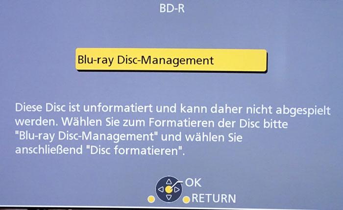 Bevor man Inhalte auf eine DVD oder Blu-ray brennen kann, muss die Disc formatiert werden.