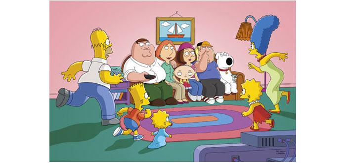 Los simpsons meet family guy date
