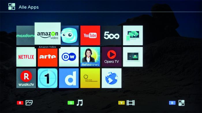 sony kd 55xe7005 apps
