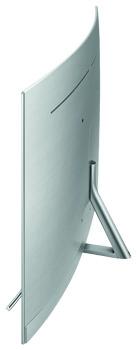 Beim Samsung Q8 lebt der Curved-Trend weiter. Mit einem Radius von 4,2 Metern fällt die Display-Biegung aber dezent aus.