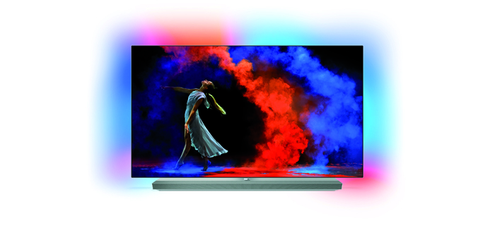 philips 65 zoll oled mit ambilight und hdr10 audiovision. Black Bedroom Furniture Sets. Home Design Ideas