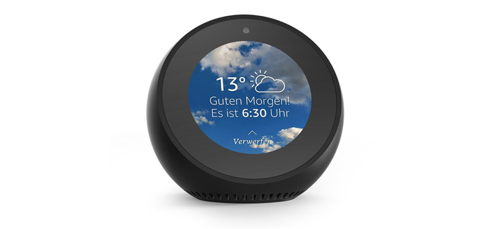 amazon echo spot alexa smart speaker mit display ab. Black Bedroom Furniture Sets. Home Design Ideas