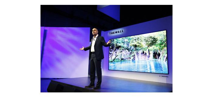 "CES: Samsung präsentiert ""The Wall"" – Modularer Micro-LED-TV mit 146 Zoll"