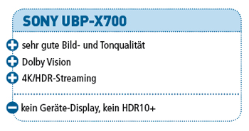 Sony UBP-X700 (Test) – audiovision